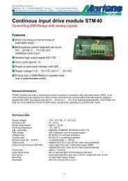STM40-00- Prospekt - Martens Elektronik GmbH