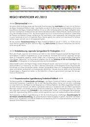 REGIO NEWSTICKER #2 /2013 - Vorderland