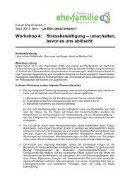 Workshop 4: Stressbewältigung – umschalten, bevor es uns ablöscht