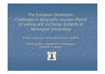 Challenges and Opportunities in geography courses offered to ...