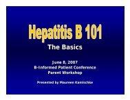 HBV 101 Slides - Hepatitis B Foundation