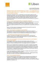 Orange innove avec le lancement de Â« Libon ... - Orange en France