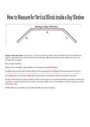 Measuring Vertical Blinds in a Bay Window - Merit Blinds