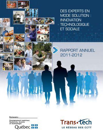 Rapport annuel 2011-2012 du Réseau Trans-tech