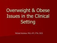 Functional Fitness for the Overweight & Obese
