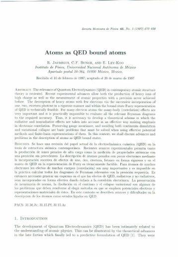 J - Revista Mexicana de Física