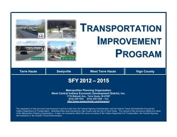 SFY 2012 - 2015 TIP - West Central Indiana Economic Development ...