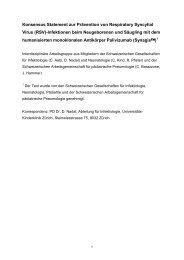(Synagis®) - 1999 - Schweizerische Gesellschaft für Pädiatrische ...