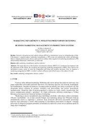 marketing menadžment u poslovno proizvodnim sistemima