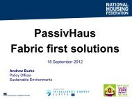 PassivHaus Fabric first solutions - Social Housing Exhibition
