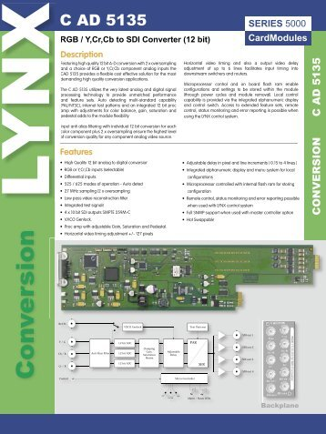 Specifications - LYNX Technik AG