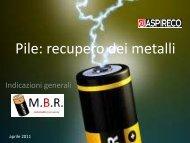 M.B.R Metal Battery Recovery metodi di recupero dei - Aspireco