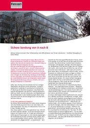 www.officemaster.de Sichere Sendung von A nach B