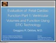 Evaluation of Fetal Cardiac Function Part 1 ... - Cmebyplaza.com