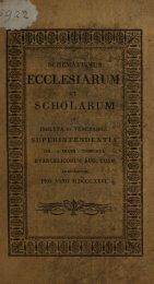 Schematismus 1826.