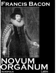 Novum Organum [Latim] - eBooksBrasil