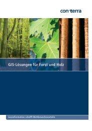 Flyer: GIS-Lösungen für Forst und Holz - con terra GmbH