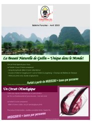 April newsletter_French - Forceten Travel Agency, Hong Kong