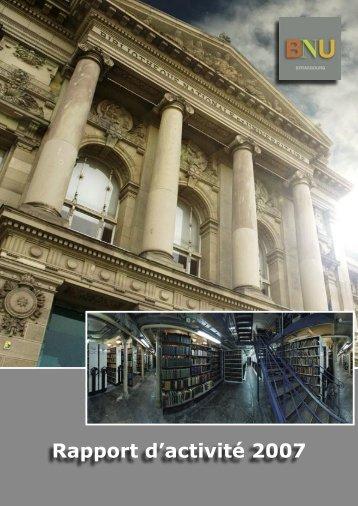 Rapport d'activité 2007 - Bibliothèque nationale et universitaire de ...