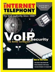 Internet Telephony Digital Issue May 2006 - Tmc's Digital Magazine ...