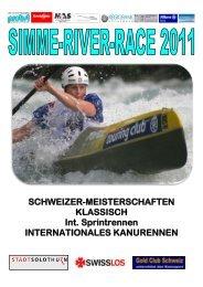 SCHWEIZER-MEISTERSCHAFTEN KLASSISCH Int. Sprintrennen ...