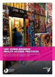 cbd homelessness health access protocol - City of Melbourne