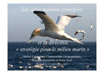 Les aires marines protégées et la directive - Agence de l'Eau Seine ...