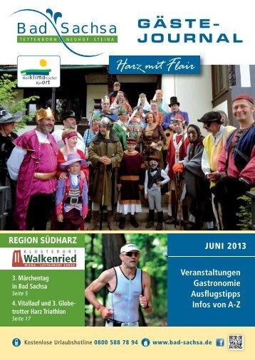 Gästejournal Juni 2013 (PDF) - Walkenried