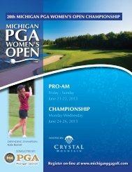 Entry Form - Michigan PGA Golf