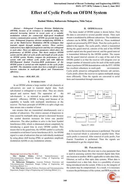 Effect of Cyclic Prefix on OFDM System - International