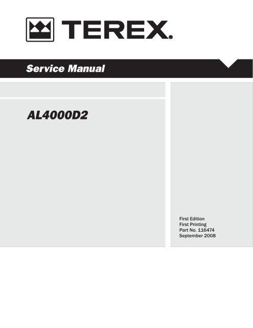 AL4000 Service Manual-116474-11-03-08 ... - Light Towers USA