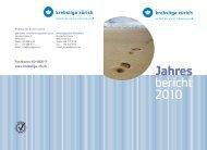 Jahres bericht 2010 - Krebsliga Schweiz