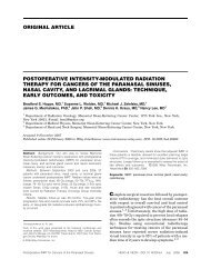 Postoperative intensity-modulated radiation therapy for cancers of ...