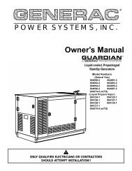 Diagnostic Repair Manual - Generac Parts