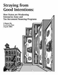 Straying from Good Intentions: How States are ... - Good Jobs First