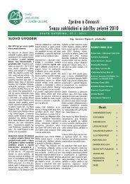 výroční zpráva - Svaz zakládání a údržby zeleně