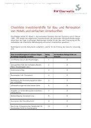 Checkliste Investitionshilfe für Bau und Renovation ... - RW Oberwallis