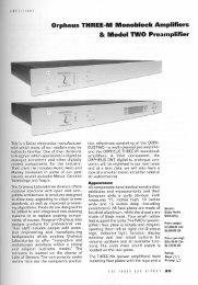 Orpheus Tl-IREE-l\ll llllonobloek Amplifiers 8: Model TWO Preamplifier