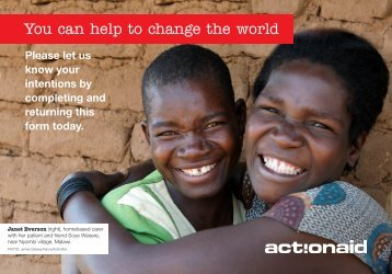 You can help to change the world - ActionAid