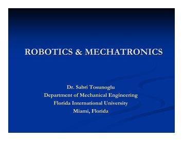 robotics & mechatronics - Engineering and Computing - Florida ...