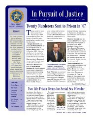 In Pursuit of Justice - Tim Harris, Tulsa County District Attorney