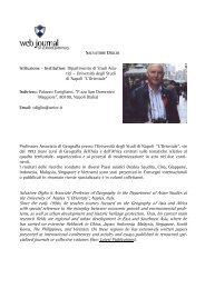 Salvatore DIGLIO - web journal - Università degli studi di Napoli L ...