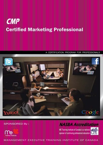 Download brochure - ME training institute of Canada
