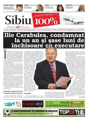 Ilie Carabulea, condamnat la un an şi şase luni de ... - Sibiu 100