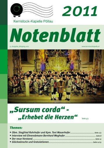 Notenblatt 2011