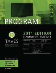 2011 Edition - Toronto Audio Video Entertainment Show