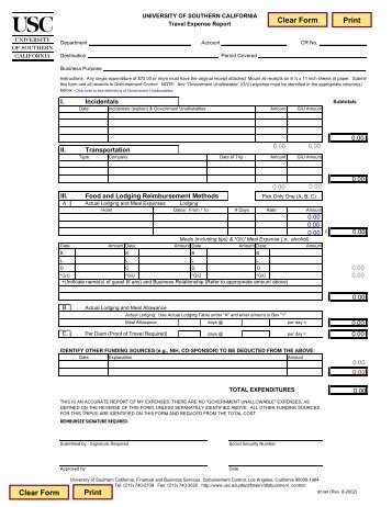 Travel Expense Request Form