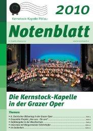 Notenblatt 2010