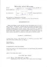 Územní rozhodnutí o umístění stavby k.ú. Klecany - ČEZ Distribuce a.s.