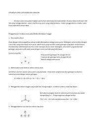 STRUKTUR LEWIS UNTUK MOLEKUL DAN ION Struktur Lewis ...